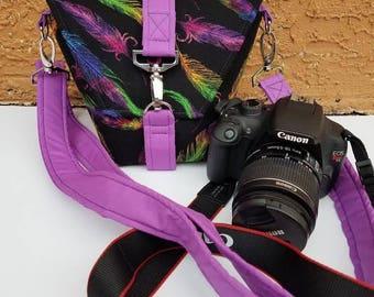 New Desgin-Camera bag-Canon camera-Small Camera-Digital SLR camera bag-Dslr camera case-purse-womens camera bag-FEATHERS