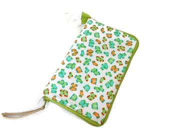 Monkey Business Socks Stitch Marker, Progress Keeper, Zipper Pull or Charm Zip Around Travel Organizer S309
