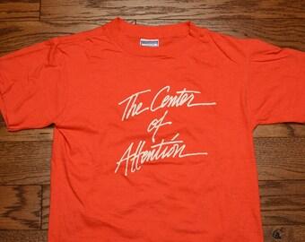 vintage 80s Radford University t-shirt basketball team shirt 1980 Center of Attention t-shirt S/M 1980 vintage tee Highlander VA