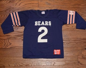 vintage 80s Bears jersey 2 #2 Doug Flutie Chicago Bears 1980 1986 football jersey GSH George Halas Rawlings XS youth large 14-16