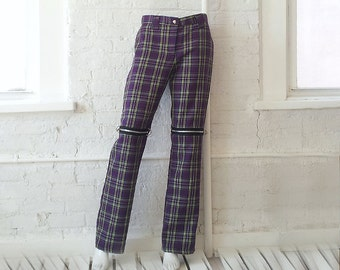Purple plaid pants – Etsy