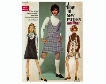 Simple to Sew Jumper in 2 lengths Size 16 Bust 38 or Size 18 Bust 40 1960s Uncut Sewing Pattern Simplicity 8414