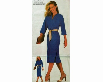 1970s UNCUT Sewing Pattern Knit dress Sizes 14 16 18 Bust 36 38 40 Pullover Dress with Dropped Shoulders Extra Sure Pattern Simplicity 8973