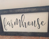 Hand Painted Farmhouse sign Framed Sign Framed Farmhouse Sign Large Farmhouse Sign Country Sign