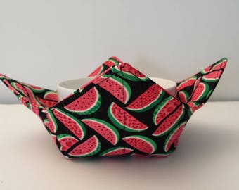 Watermelon, Microwave Bowl Cozy, Bowl Holder, Bowl Warmer, Hot or Cold, All Cotton