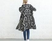 SALE  50 Off Winter Final Sale SALE!Knit Tribal Print Poncho,Black/Ivory .