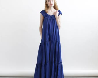 Big Summer Sale Frida Maxi dress, Blue Maxi dress