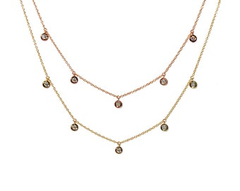 14k Diamond Charm Necklace