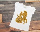 Beauty and the beast shirt - Belle shirt - Belle - Beast Shirt - Beast - Girls Disney Shirt - Disneyworld - Disneyland - Toddler shirt