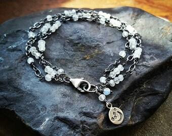 MOONSTONE Bracelet MOONDROPS