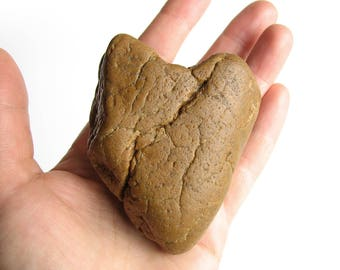 Big Heart Shaped Stone - Natural River Rock- Valentines Day Gift