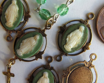 Vintage Miraculous Mary Shabby Chic Connectors