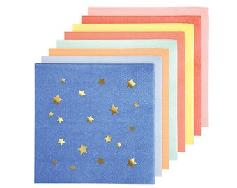 Jazzy Star Paper Napkins by Meri Meri | Gold Star Paper Napkins | Twinkle Twinkle Little Star Napkins