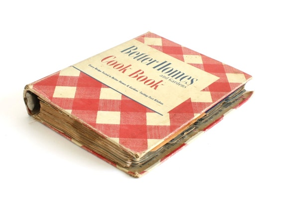 Checkered Cover Cookbook ~ Better homes gardens cookbook recipe binder red