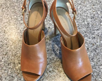 Banana Republic Rust Open Toe Sandal High Heel Shoe Size 9M