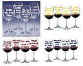 SVG - 9 Wine glass sayings - Digital cutting files - INSTANT DOWNLOAD - svg, , silhouette studio, png & pdf
