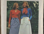 Butterick 4025 1970s 70s Wrap and Go Skirt Vintage Sewing Pattern Size / Waist 26.5-28
