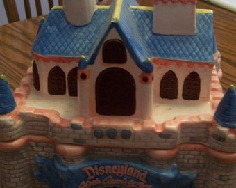 Vintage Disneyland Cookie Jar Sleeping Beauty's Castle 40th Anniversary of Disneyland Numbered 24,916 / 100,000