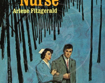 Northwest Nurse - 10x15 Giclée Canvas Print of Vintage Pulp Paperback