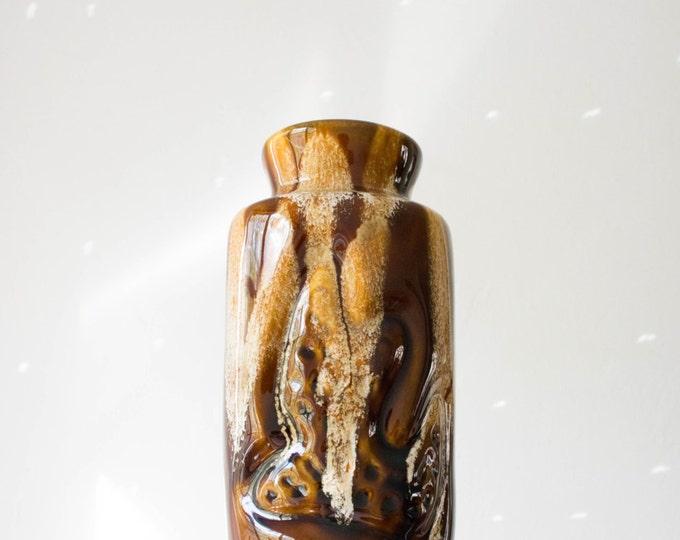 Mid Century West German Studio Pottery Vase // Organic Modernist Art