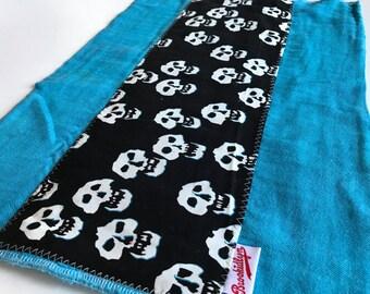 Misfits Skulls Turquoise Burp Cloth