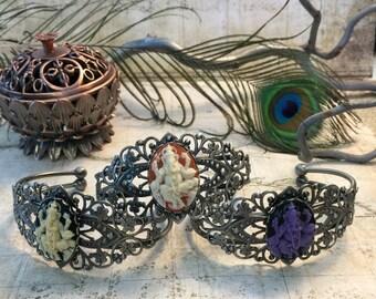 Ganesh Elephant Bracelets - Indian Style Jewelry, Hindu Gods, Hindu Jewelry, Elephant Jewelry, Bollywood, Diwali Gifts, Adjustable Bracelets