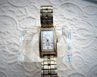 Vintage  Men's Watham Wrist Watch - Manual Wind - Authentic and Original - Art Deco Era
