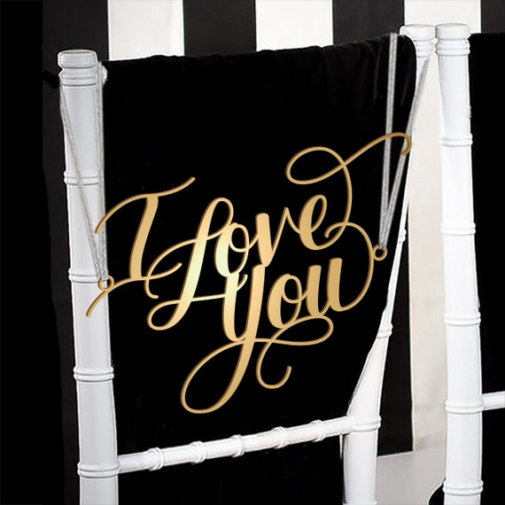 Star Wars Wedding Signs: Wedding Chair Signs Decoration I Love You I Know Star Wars