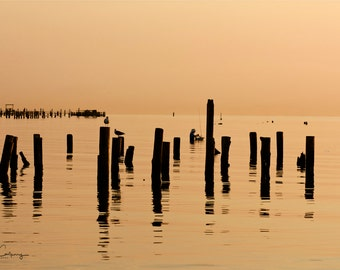 Lone Fisherman,    8X12 inch fine art photo, signed by me