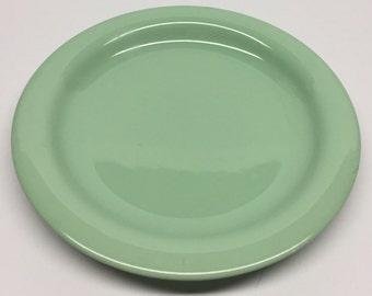 Goebel West Germany Meridian jadite green salad plate Oeslauer Manufaktur, Spulmaschinenfest, Goebel, Meridian, Bavaria, W. Germany
