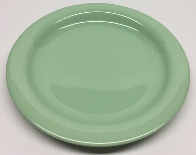 Featured listing image: Goebel West Germany Meridian jadite green salad plate Oeslauer Manufaktur, Spulmaschinenfest, Goebel, Meridian, Bavaria, W. Germany