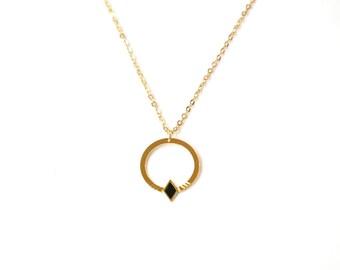 Necklace Romy brass gold filled 24k