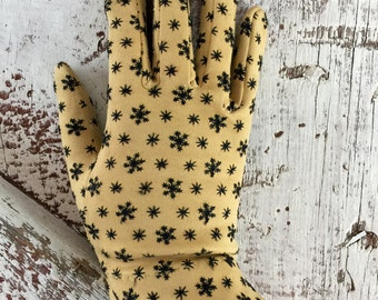 Vintage Glove Crescendoe Leather Tailored size 7 yellow and black