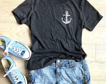 Anchor t shirt. Summer Sail Shirt. Mom's Missy Fit Shirt. Mom's Cardio Shirt. Mom's Workout Shirt.