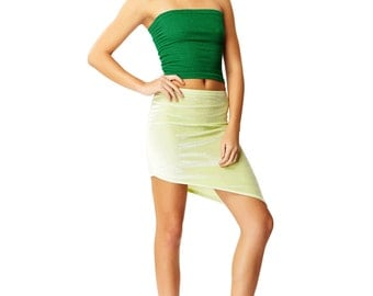 Emerald City Green Tube Top X American Deadstock 90s Vintage Clothing