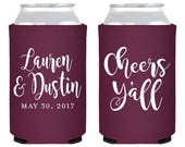 Cheers Y'all, Wedding Favors, Party Favor, Engagement, Party Favors, Shower Favor, Wedding, Cheers Y'all, Wedding Can Coolers, Favors, 1684