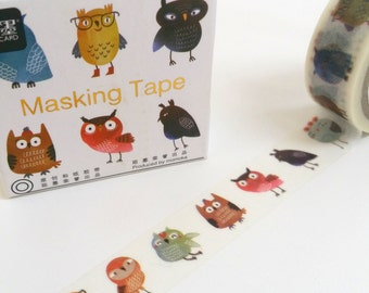 Funny Owl Washi Tape