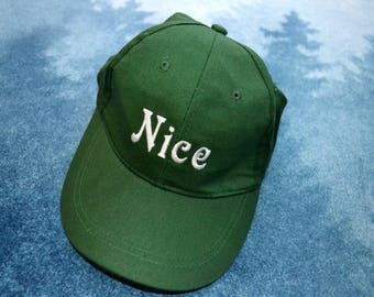Vintage 90s NAUGHTY and NICE Baseball Hat