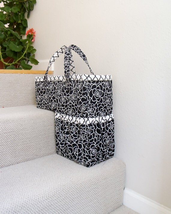 One-Trip-Up Stair Basket  - PDF SEWING PATTERN - cozy nest design