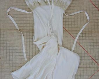 Vintage Silk Nightgown Bias Ivory Wedding Worthy Everitt-Buelow