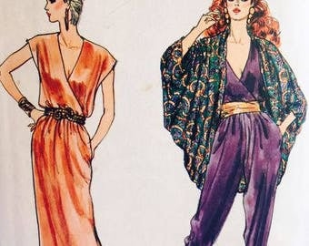 Vogue 8458, early 1980s, Misses' Jacket, Dress and Jumpsuit.