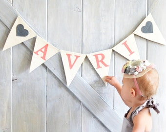 Personalized Name Banner, Personalized Christmas Gift, Toddler Christmas Gift, Baby Name Banner, Baby Shower Banner, Custom Name Sign
