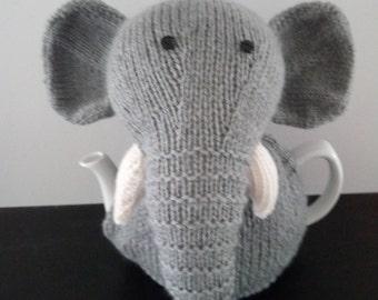 Hand Knitted Elephant Tea Cosy