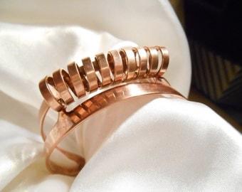 Sarah Coventry Copper Cosmic Wrap Around Cuff Bracelet