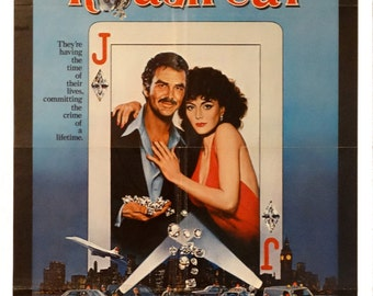 "Rough Cut. Original 1980 US 27""x41"" Movie Poster. FREE SHIPPING. Jewel Heist with Burt Reynolds,David Niven, Lesley-Anne Down,Patrick Magee."
