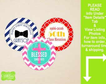 Custom Favor Stickers - Personalized Favor Stickers - Gift Stickers - Available as Digital File or Printed and Shipped