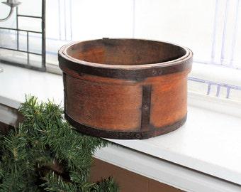 Antique Dry Measure Bentwood Round Box Farmhouse Decor