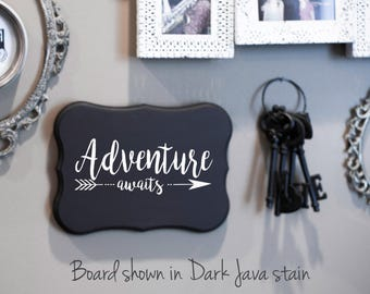 FAMILY Wall Sign - Adventure Awaits - Arrow Sign - Wedding Gift - House Warming Gift -Anniversary Gifts -Mother's Day Gifts - Welcome Signs