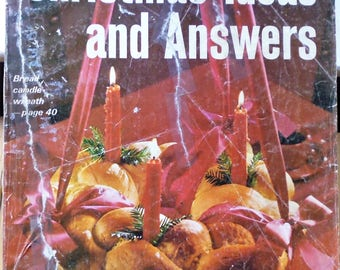 Sunset Christmas Ideas and Answers 1975, whirligigs, hot glogg, foam rubber animals, dipped chocolates, yarn ornaments, fast quilt