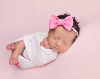 Baby Headbands, Hair Bows, Baby Girl Headband, Newborn Bow, Newborn Baby Headband, Girls Hair Clips, Felt Headbands, Infant Toddler Headband